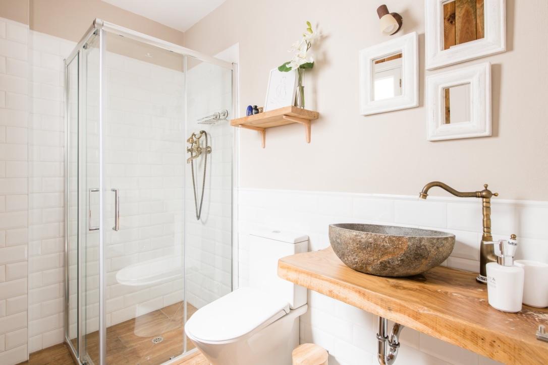Baño con ducha de Ca'n tosca Jávea